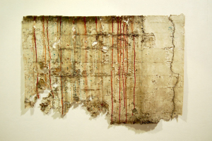 Bloodletting, surface lifted from wall